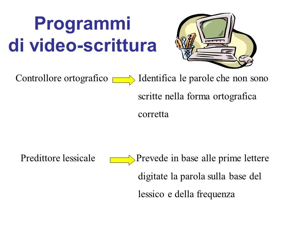 Programmi di video-scrittura