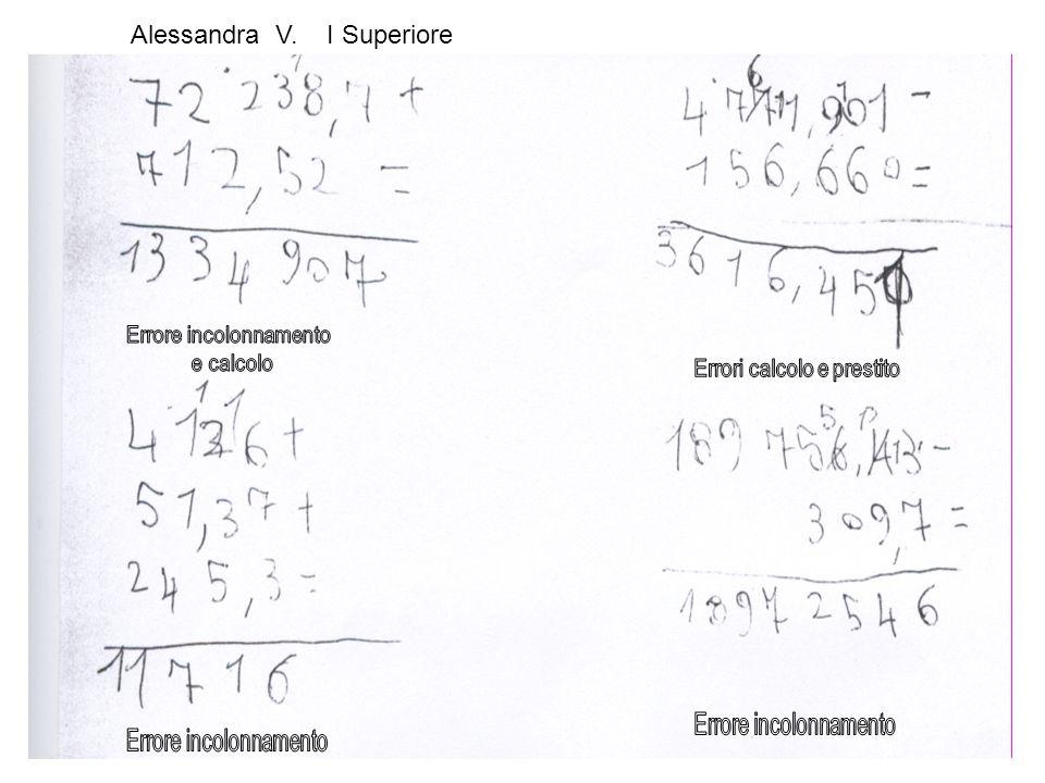 Alessandra V. I Superiore