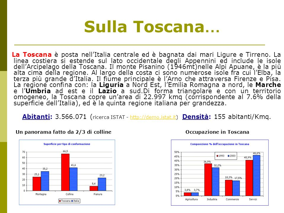 Sulla Toscana…