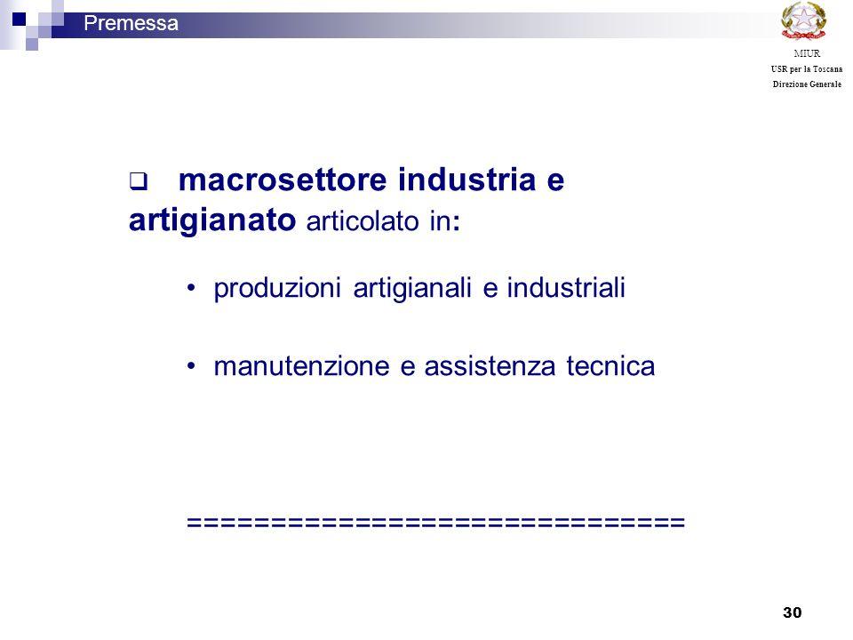 produzioni artigianali e industriali manutenzione e assistenza tecnica