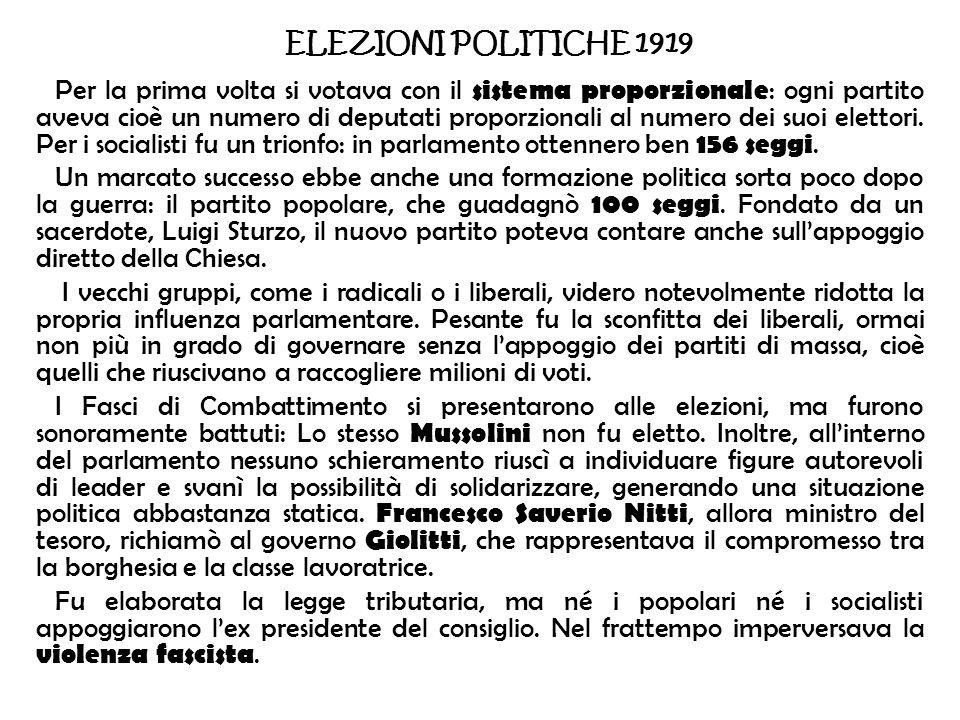 ELEZIONI POLITICHE 1919