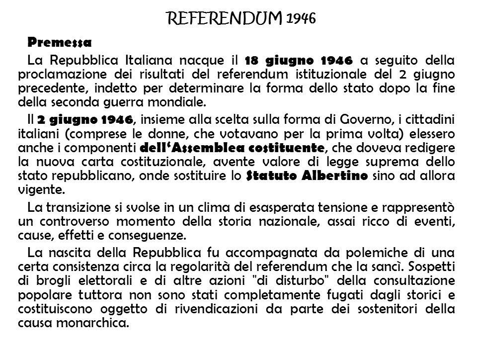 REFERENDUM 1946 Premessa.
