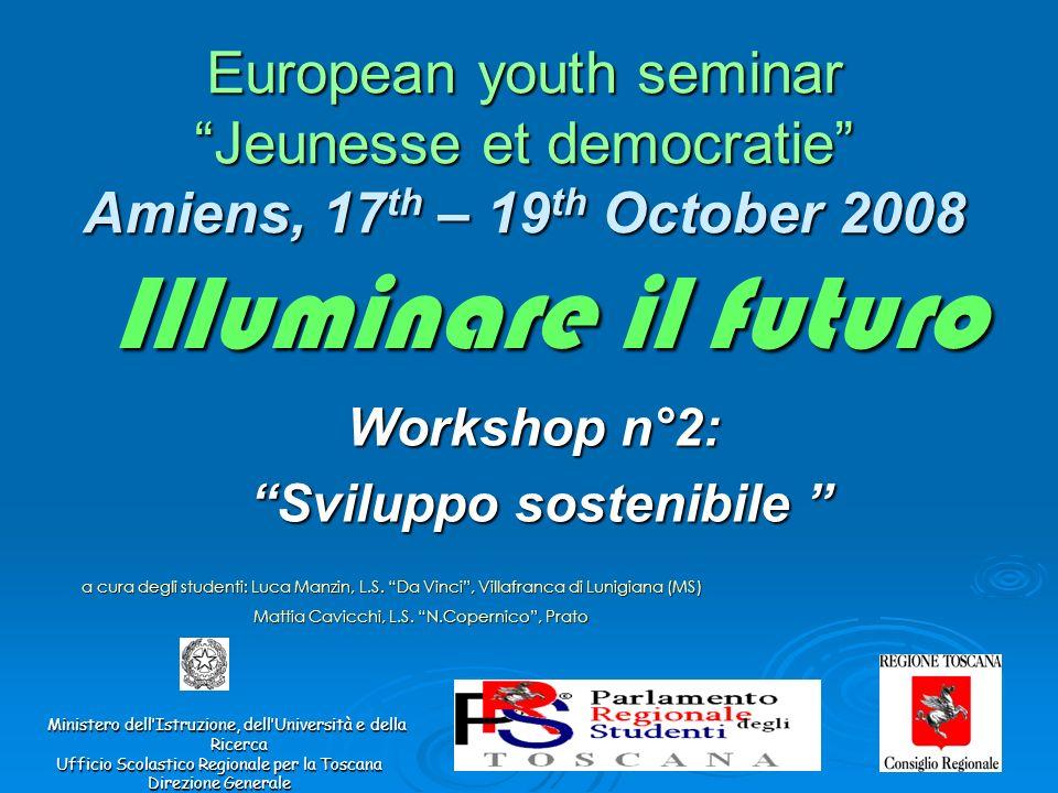 Workshop n°2: Sviluppo sostenibile