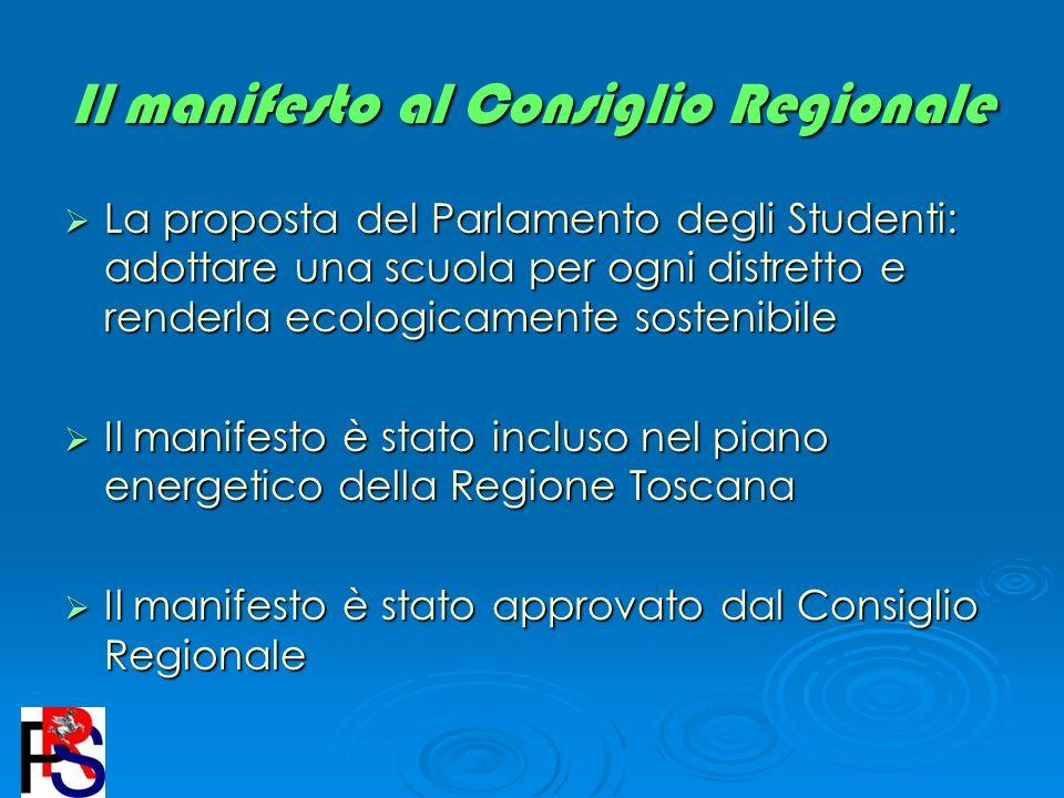 Il manifesto al Consiglio Regionale