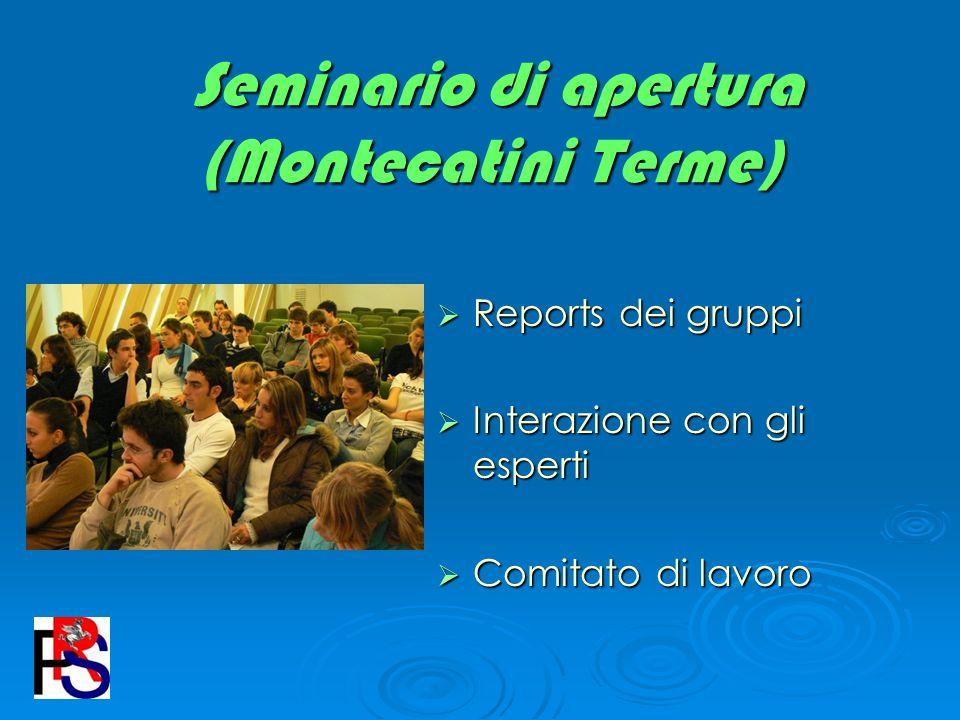 Seminario di apertura (Montecatini Terme)