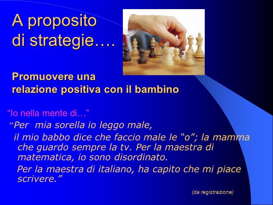 A proposito di strategie…
