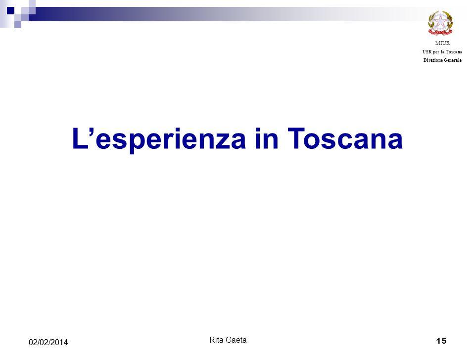 L'esperienza in Toscana