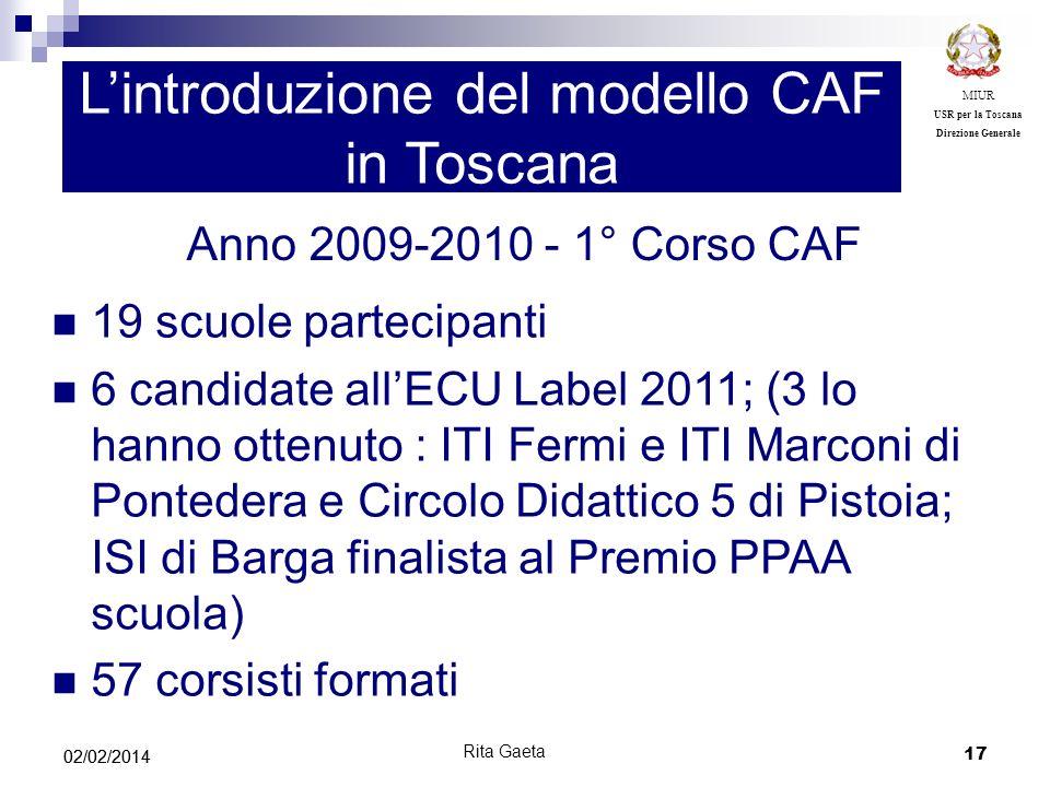 L'introduzione del modello CAF in Toscana