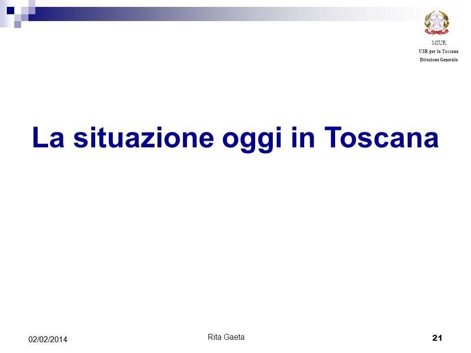 La situazione oggi in Toscana