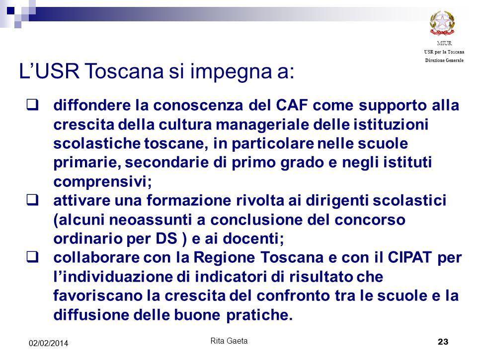 L'USR Toscana si impegna a: