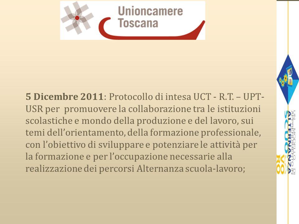 5 Dicembre 2011: Protocollo di intesa UCT - R. T