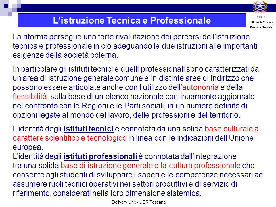 L'istruzione Tecnica e Professionale