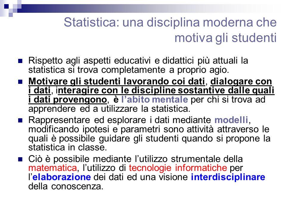 Statistica: una disciplina moderna che motiva gli studenti