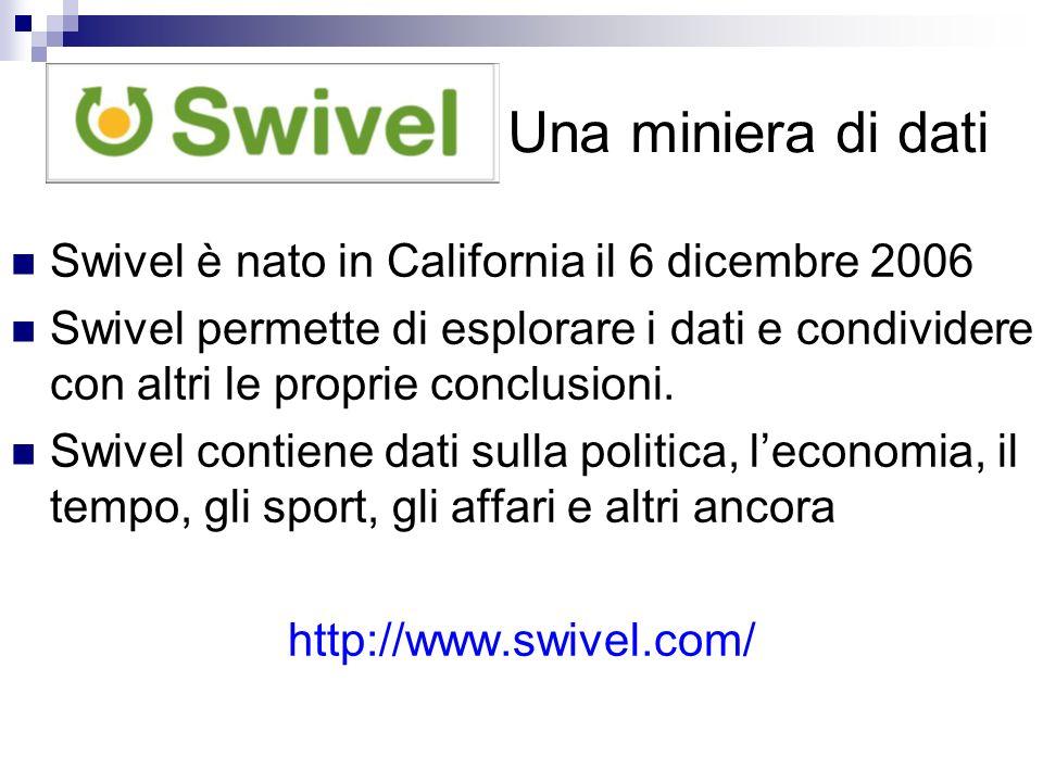 Una miniera di dati Swivel è nato in California il 6 dicembre 2006