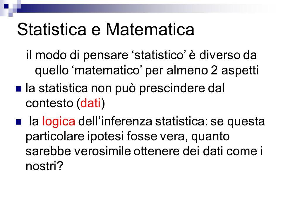 Statistica e Matematica