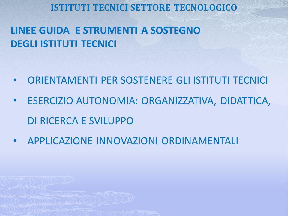 ISTITUTI TECNICI SETTORE TECNOLOGICO
