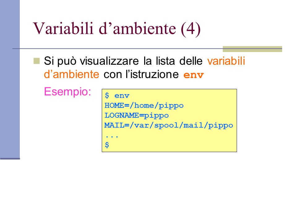Variabili d'ambiente (4)
