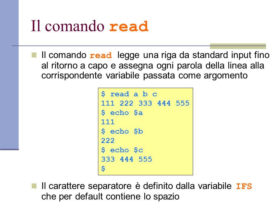 Il comando read