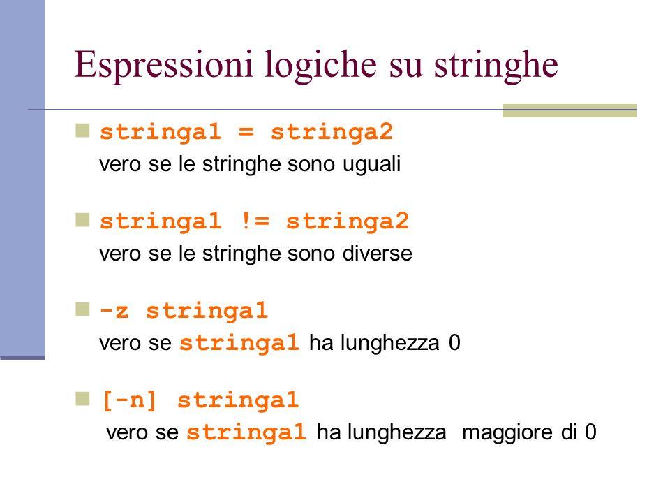 Espressioni logiche su stringhe