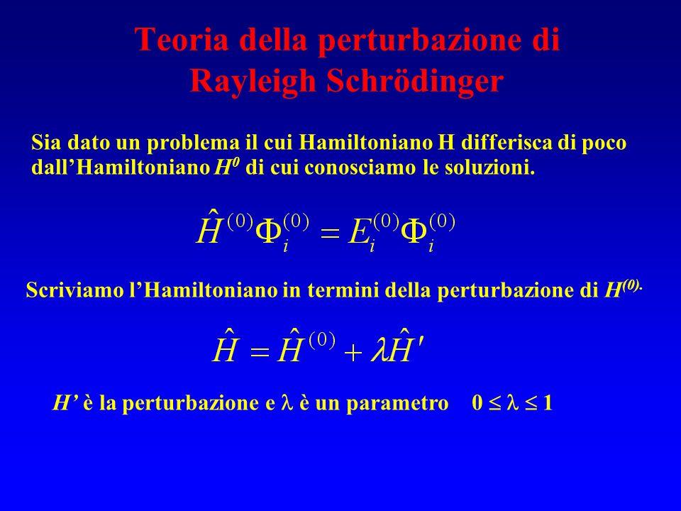 Teoria della perturbazione di Rayleigh Schrödinger