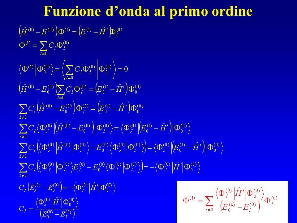 Funzione d'onda al primo ordine