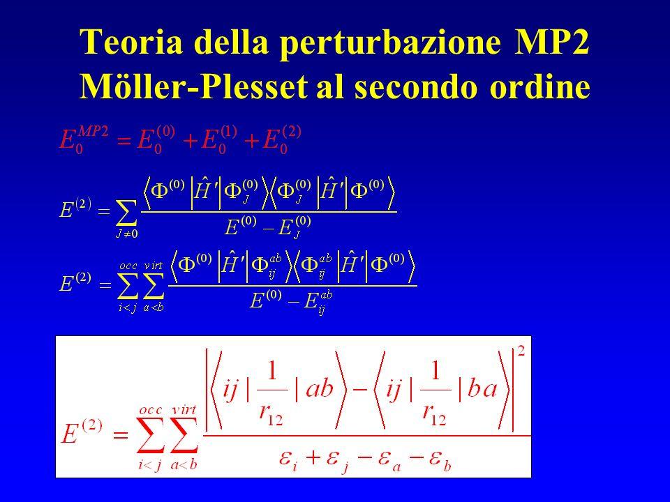 Teoria della perturbazione MP2 Möller-Plesset al secondo ordine