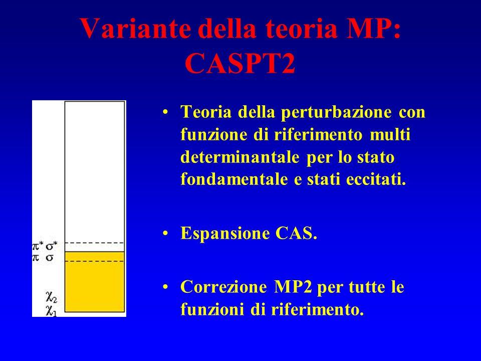 Variante della teoria MP: CASPT2