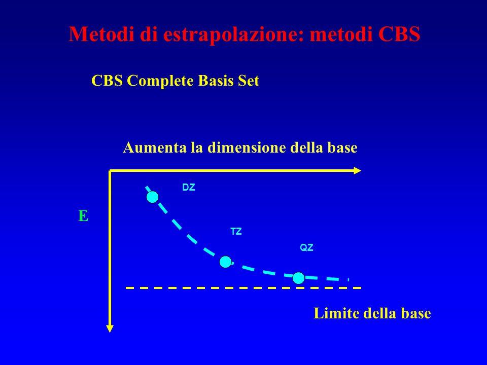 Metodi di estrapolazione: metodi CBS