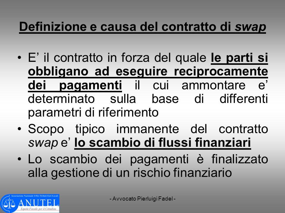 Definizione e causa del contratto di swap