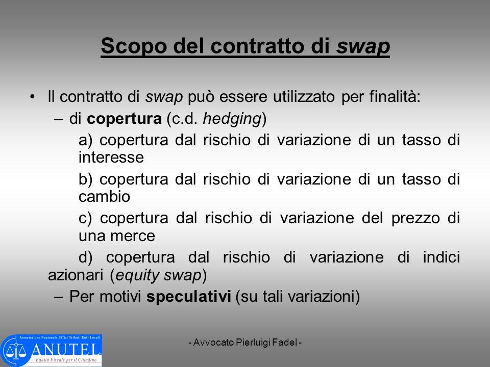 Scopo del contratto di swap