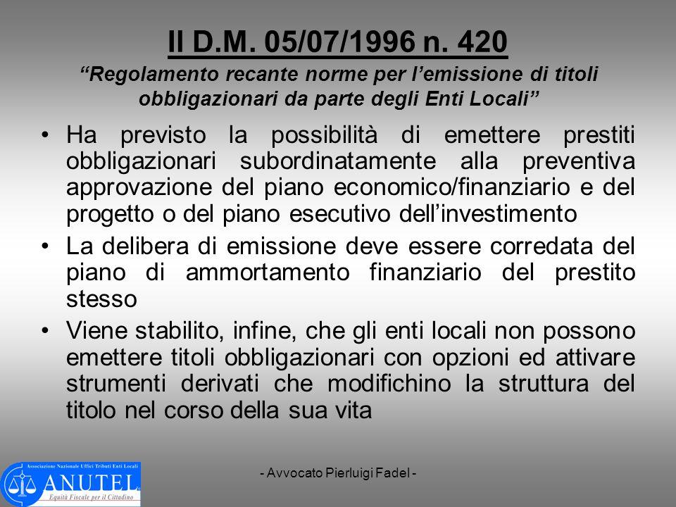 - Avvocato Pierluigi Fadel -