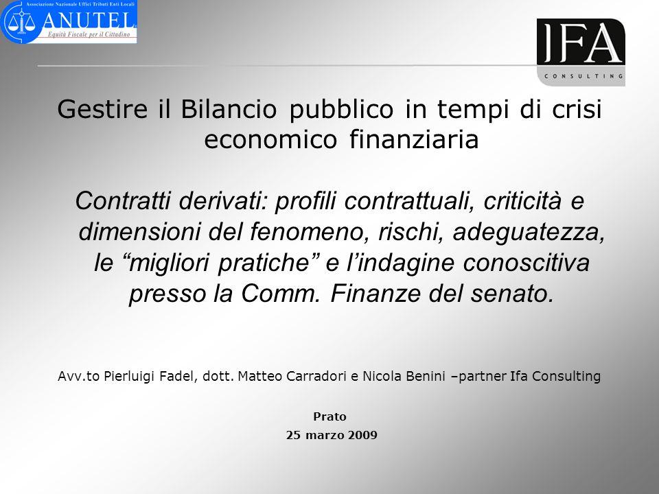 Gestire il Bilancio pubblico in tempi di crisi economico finanziaria