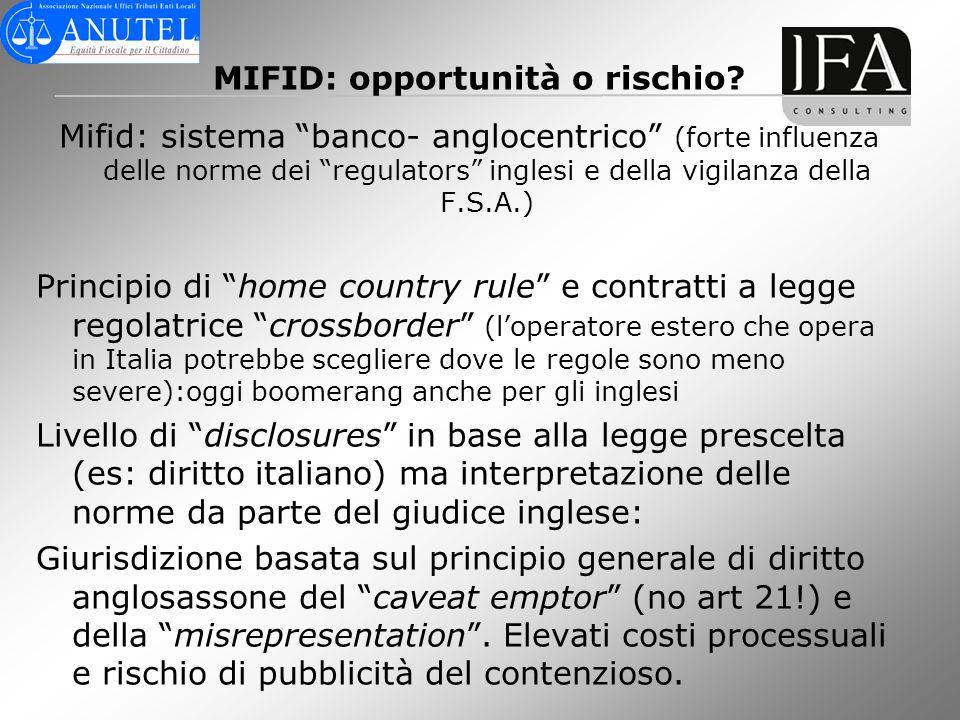 MIFID: opportunità o rischio