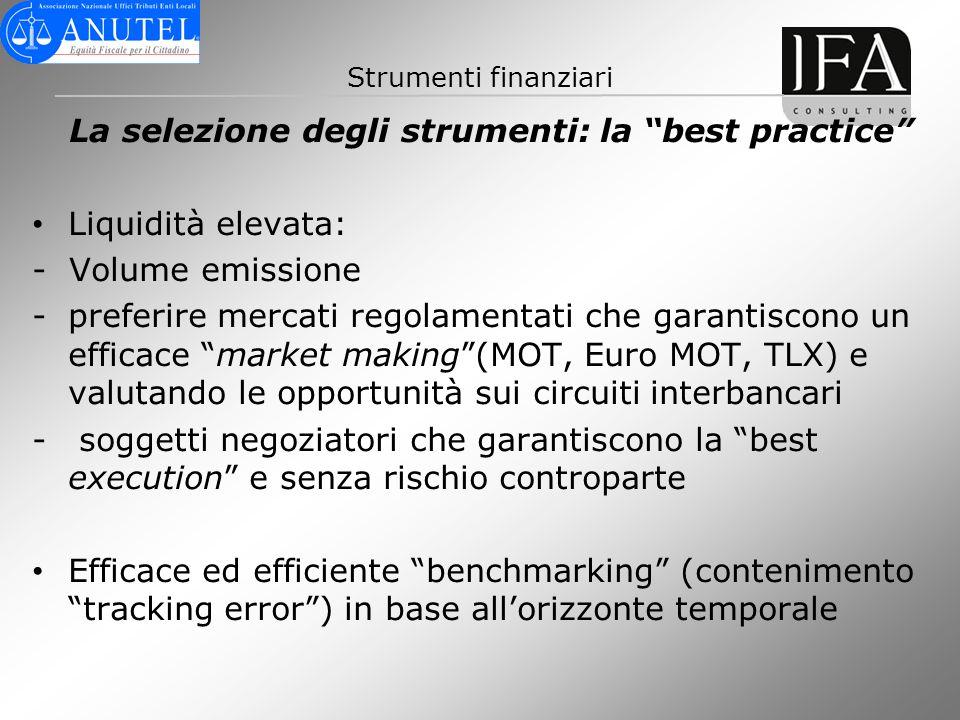 La selezione degli strumenti: la best practice