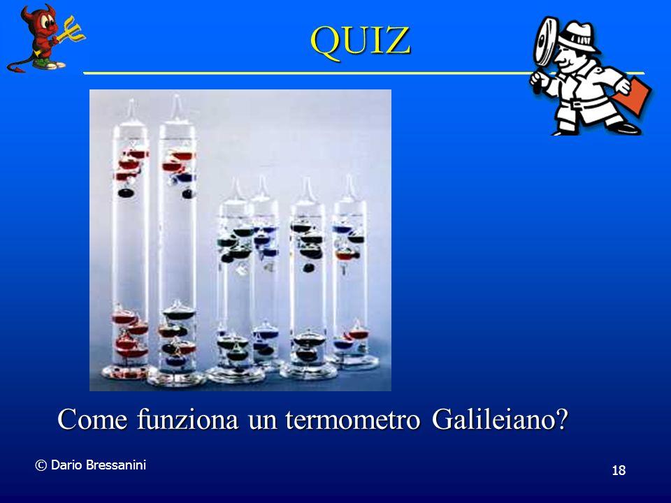 QUIZ Come funziona un termometro Galileiano © Dario Bressanini