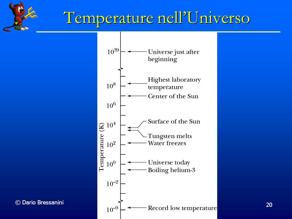 Temperature nell'Universo
