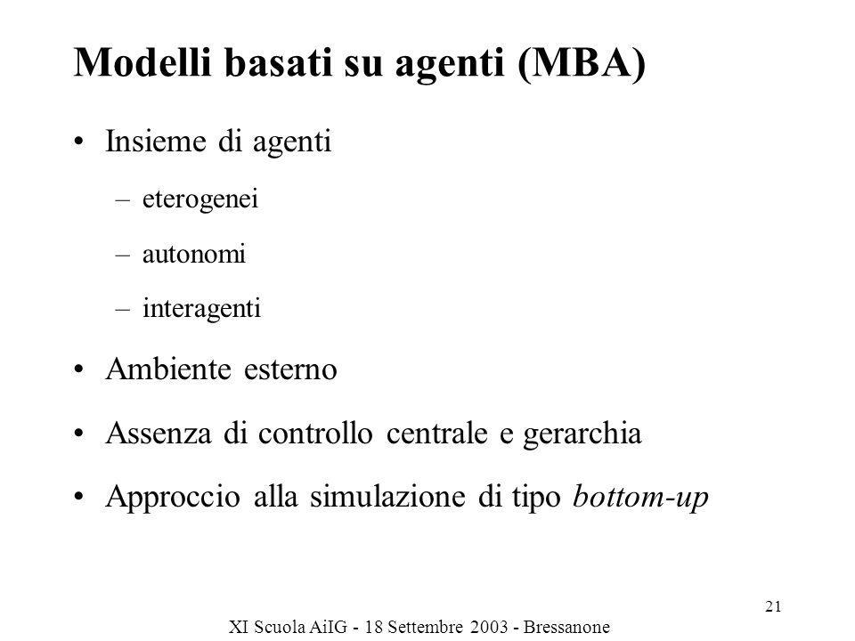 Modelli basati su agenti (MBA)