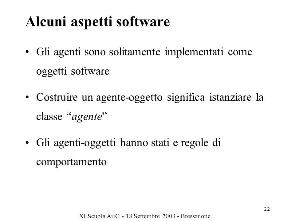 Alcuni aspetti software