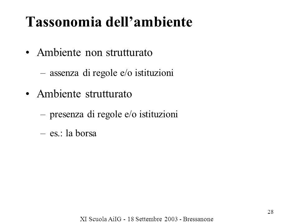 Tassonomia dell'ambiente