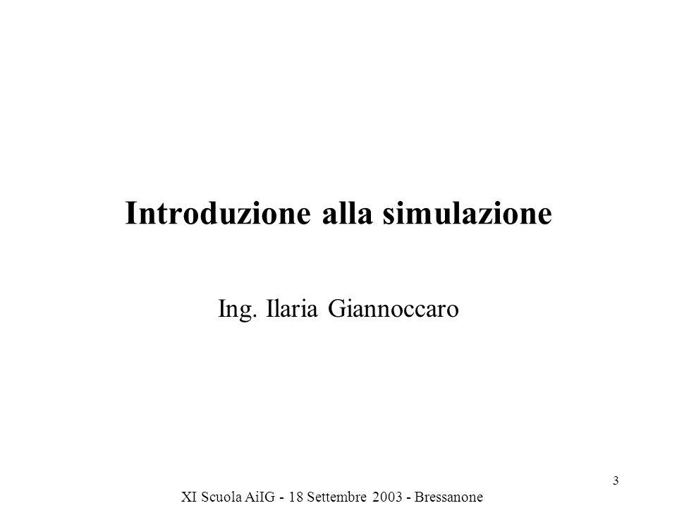 Introduzione alla simulazione