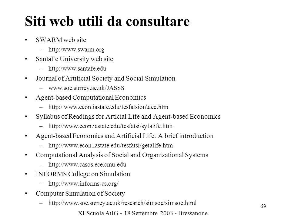 Siti web utili da consultare