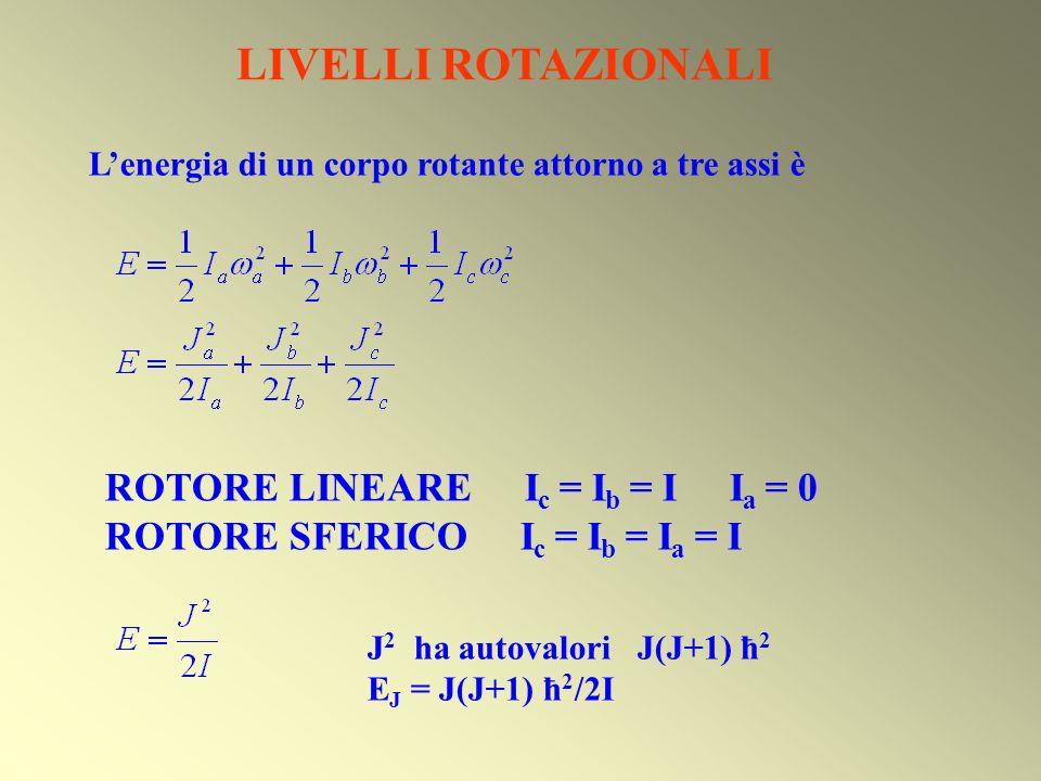 LIVELLI ROTAZIONALI ROTORE LINEARE Ic = Ib = I Ia = 0
