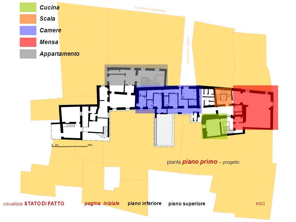 Cucina Scala Camere Mensa Appartamento pianta piano primo – progetto
