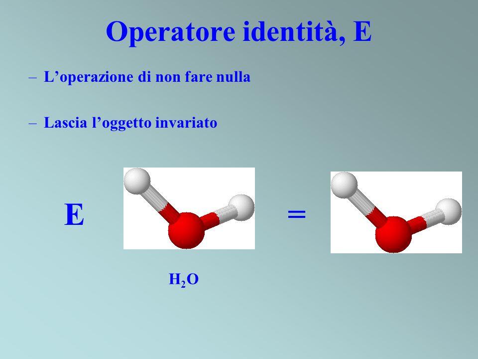 E = Operatore identità, E L'operazione di non fare nulla