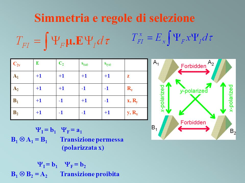 Simmetria e regole di selezione