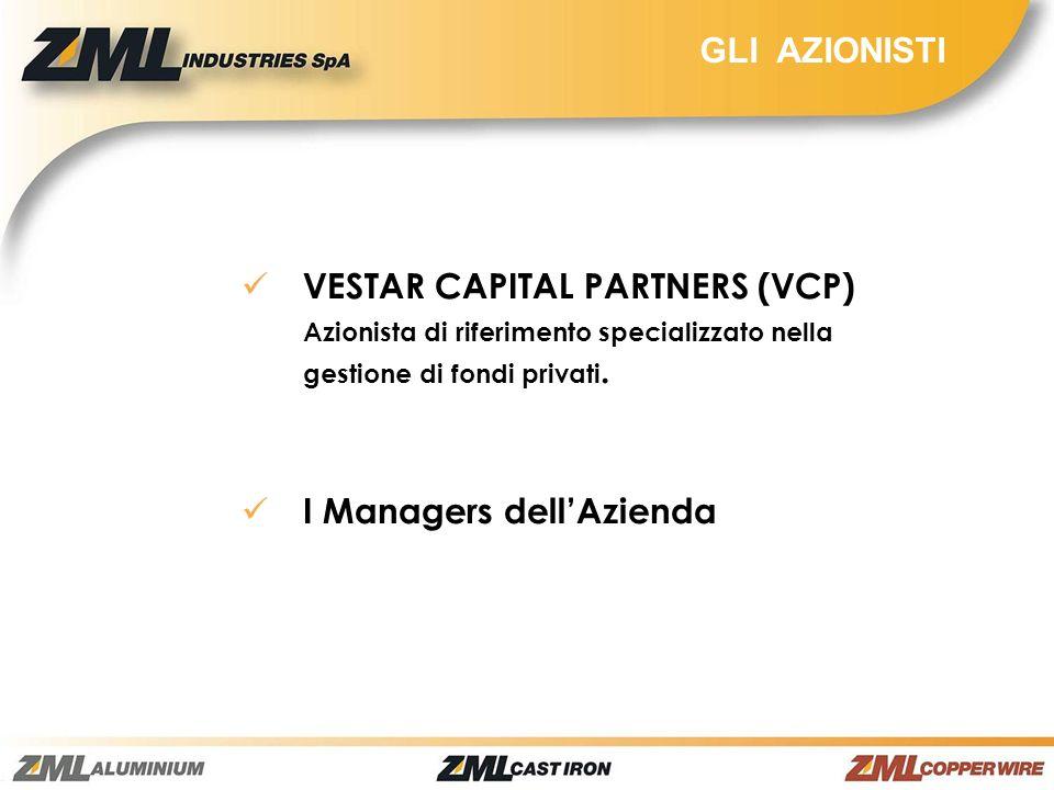 GLI AZIONISTI VESTAR CAPITAL PARTNERS (VCP) Azionista di riferimento specializzato nella gestione di fondi privati.