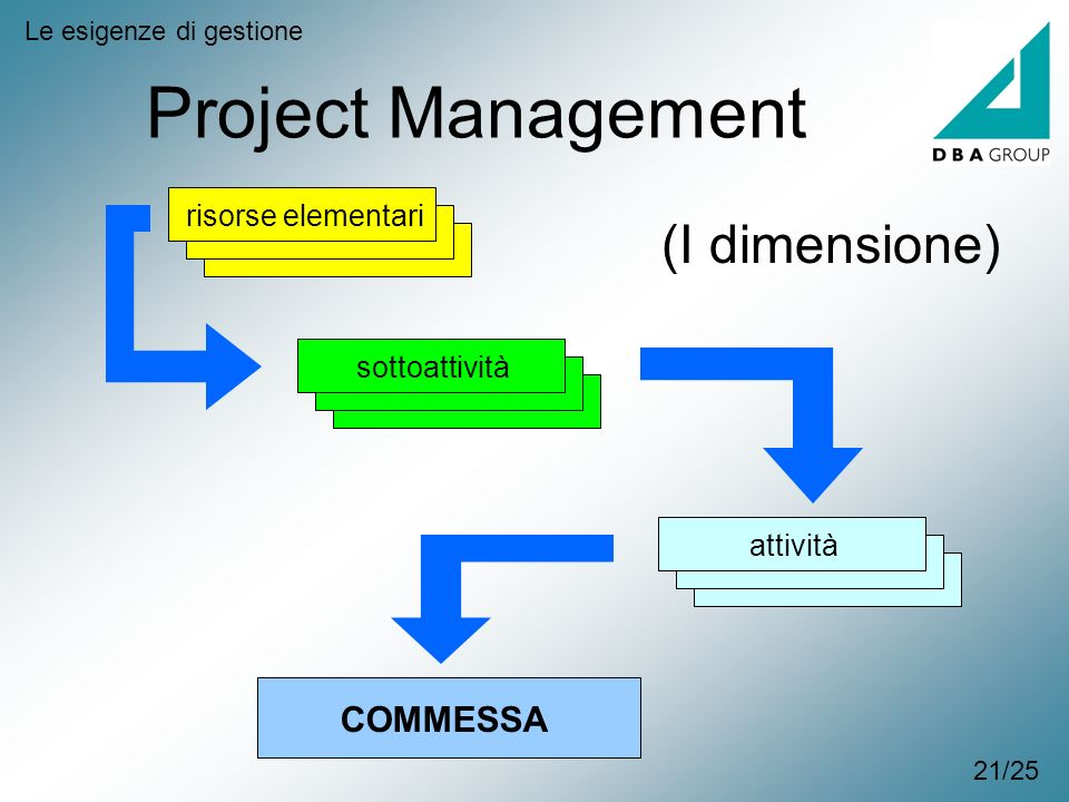 Project Management (I dimensione) COMMESSA risorse elementari