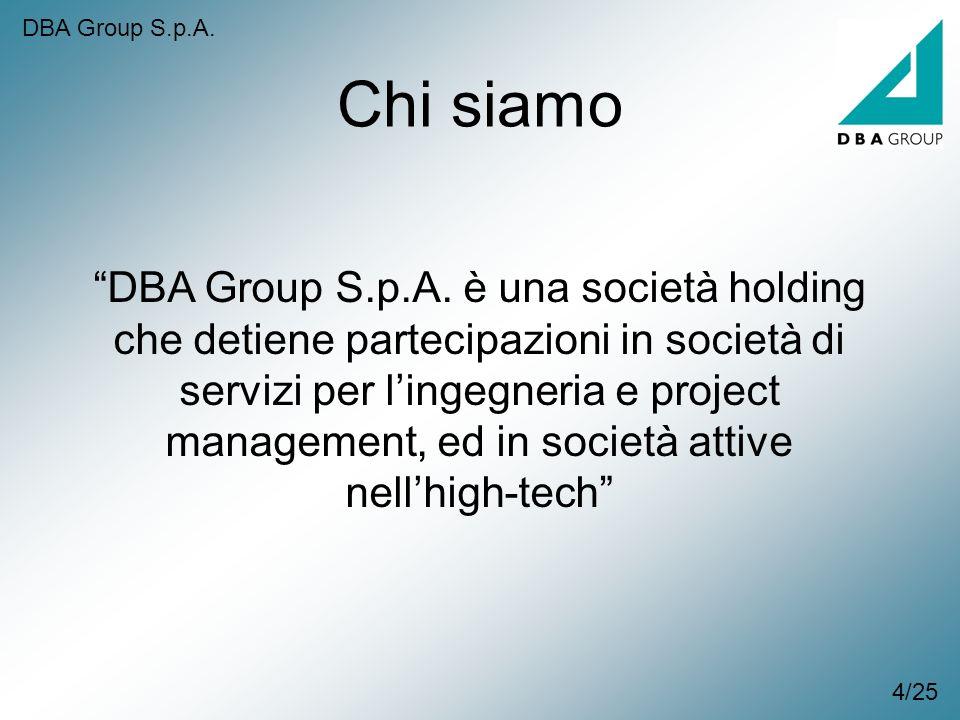 DBA Group S.p.A. Chi siamo.