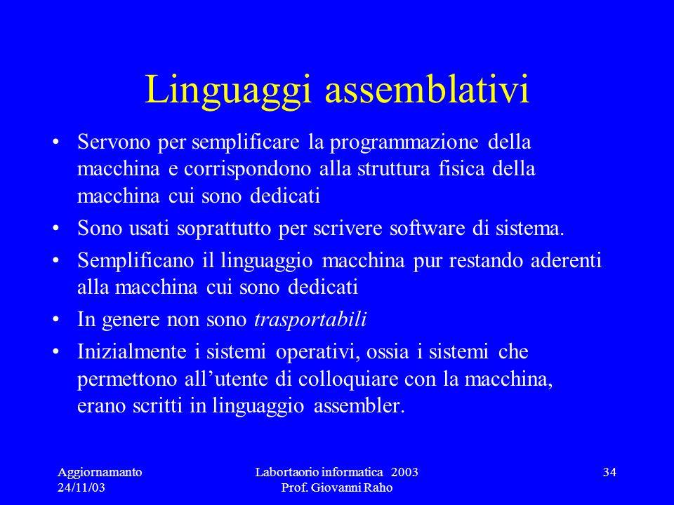 Linguaggi assemblativi