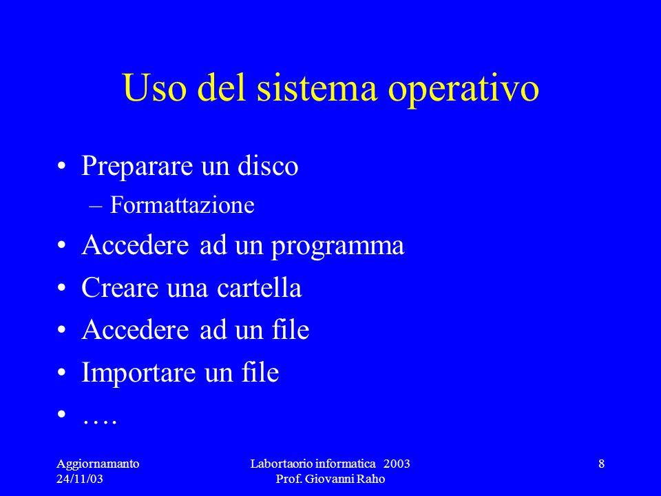 Uso del sistema operativo